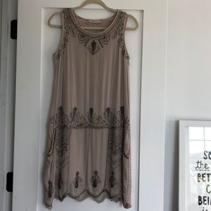 Zara beaded dress with pockets